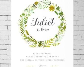 Customized Flyer Birth announcement - Flyer, Digital Art