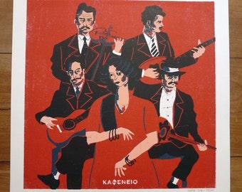 REBETIKO. Poster 40x40cm. PRINTING 4 colours