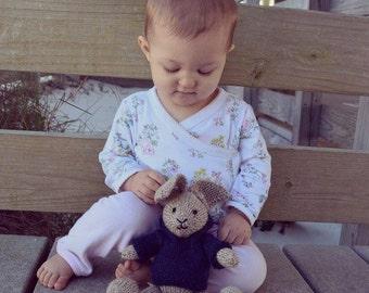 Stuffed Bunny, Bunny Doll, Bunny Plush, Stuffed Animal, Handmade Toy, Knit Toy, Wool Toy, Kids Toy, Baby Gift, Stuffed Bunny Rabbit Hare