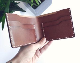 Slim Wallet in BROWN leather | Bifold wallet