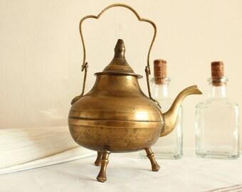 Vintage Brass Kettle / Teapot