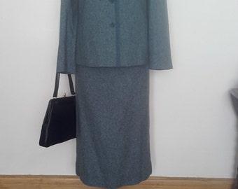 1940's/Vintage Style Ladies Blue Two Piece Suit