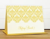 Personalized Stationery Set / Personalized Stationary Set - DAMASK Custom Personalized Note Card Set - Feminine Pretty Teacher Gift