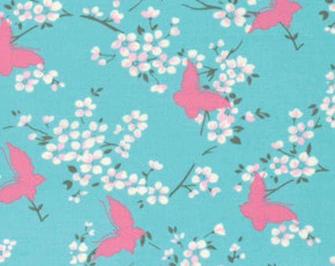 SALE Chloe by Tanya Whelan - Butterfly TW100 SKY blue - 1 yard