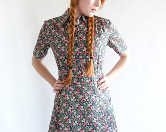 Rose, Japanese vintage dress, small - medium