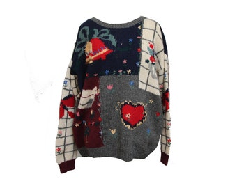 Vintage Ugly Christmas Sweater Womens Size XL