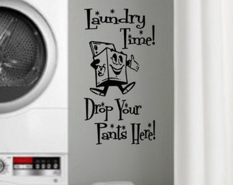 Laundry Room decal, Retro Wall Decals