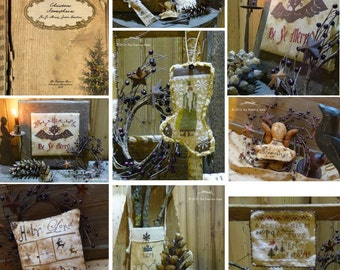 Pattern: Christmas Atmospheres Cross Stitch Projects- Primitive Hare