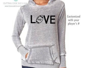 Football Hoodie, football mom, customized, football love, football girlfriend, sweatshirt, football mom shirt, football hoodie, football