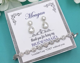 Bridesmaid Earrings, Bridesmaid Earrings Set, Bridesmaid Jewelry Gift, Personalized Bridesmaid Earrings, Bridal Party Earrings 469728094