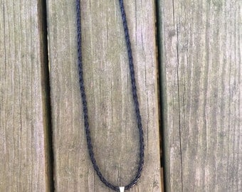 Chalcedony Druzy necklace