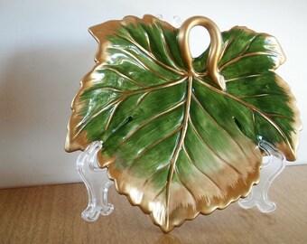 Fitz and Floyd, Floyd Classics, Renaissance Tray, Vintage Fitz and Floyd, FF Leaf Trinket, Leaf Dish, Leaf Tidbit Dish, Leaf Ring Dish