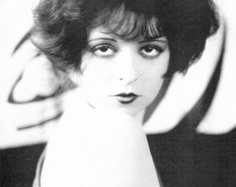 The It Girl, Clara Bow, 1920s, Hollywood, Vintage Art Print, Roaring 20s, Celebrities, Old Hollywood, Hollywood Regency, Hollywood Glamour