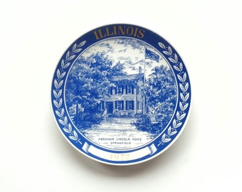 1972 Illinois Plate Lincoln's Home Springfield Collectors Plate