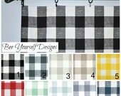 Buffalo Check Valance Curtain - Premier Prints Anderson - Large Gingham - You pick color and size