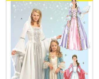McCall's Pattern M5731 Misses' Princess Costumes Sizes Sml-Xlg: 8-22 NEW