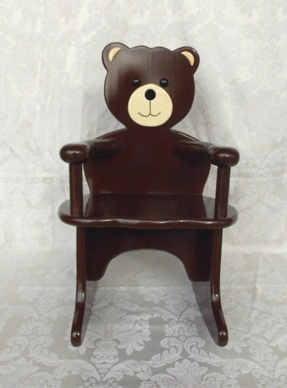 teddy bear rocking chair by andrewsrockinghorse on etsy. Black Bedroom Furniture Sets. Home Design Ideas