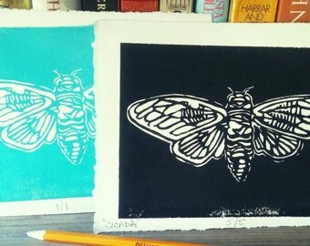 Cicada- Woodblock Prints