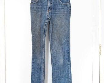 24x32 High Waisted, straight leg, 90s Jeans | Grunge | Sz. S / 1 PL, tall, vintage slim cut destroyed denim 25x33 24 x 32