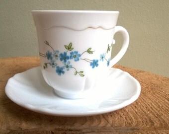 6 Arcopal cups & saucers Veronica