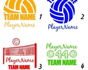 Custom Volleyball Decal - With Name