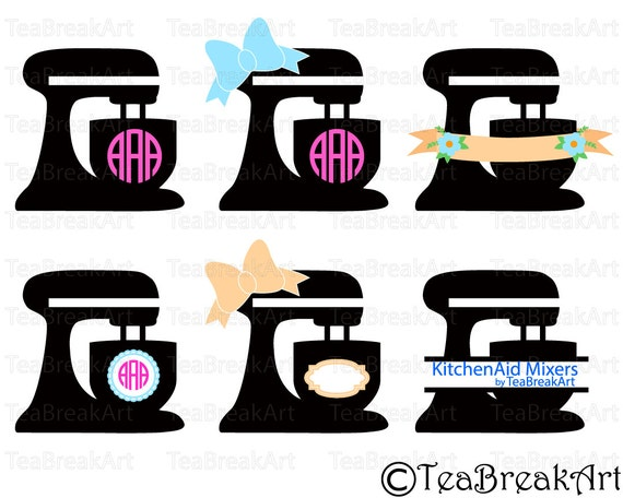 Kitchen Aid Mixer Decal Svg