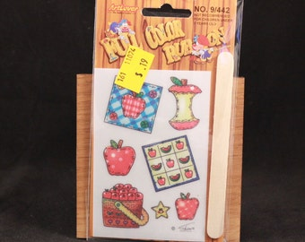 Vintage Art Lover Full Color Rub On Transfers Package. Apples