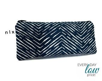 Navy Cameron Pencil Case / Cord Case, zip pouch