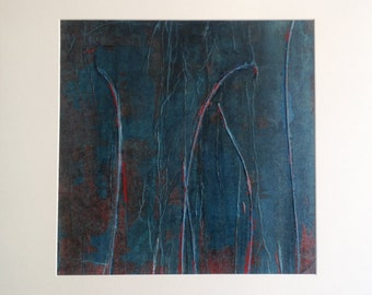 Among the reeds 4 original painting abstract art mixed media on canvas