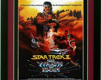The Wrath of Khan Star Trek Poster Custom Framed Print A+ Quality