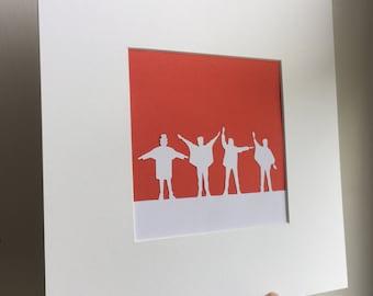 Beatles - Help handmade papercut