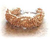 Gold Bracelet, Metallic Gold Bracelet, Wedding Bracelet, Bright Gold Bracelet, Handcrafted Bracelet, Classy Boho Bracelet