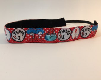Dr. Seuss- Thing 1- Thing 2- Universal Studios- Thing Headband- Cat in the Hat Headband