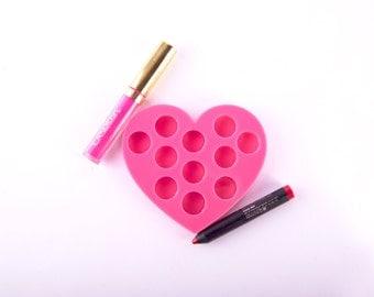 Hearted Lipstick Holder