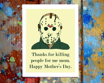 Jason Voorhees Friday The 13th Happy Mother's Day Card
