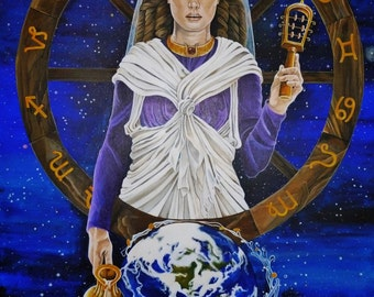 Goddess Isis/Fortuna Greeting Card