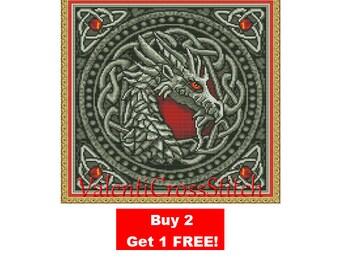 Dragon Cross Stitch Pattern, Cross, Stitch, Pattern, Patterns, Dragon, Dragons,