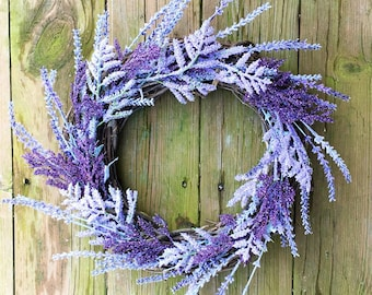 Spring Wreath, Spring Door Wreath, Lavender Wreath, Purple Door Wreath, Lavender Door Wreath, Purple Wreath, Summer Wreath