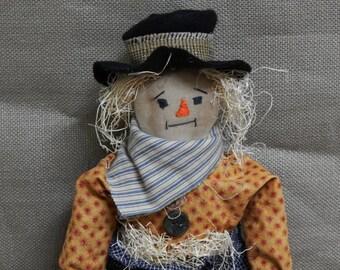 Primitive Scarecrow, Fall scarecrow, Scarecrow doll, Folk art scarecrow  - ready to ship