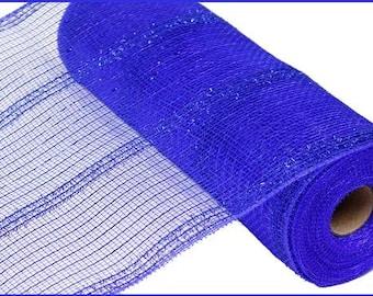 "10.5""X10yd Royal Blue  Wide Tinsel Foil Deco Mesh/Wreath Supplies/RY840125"