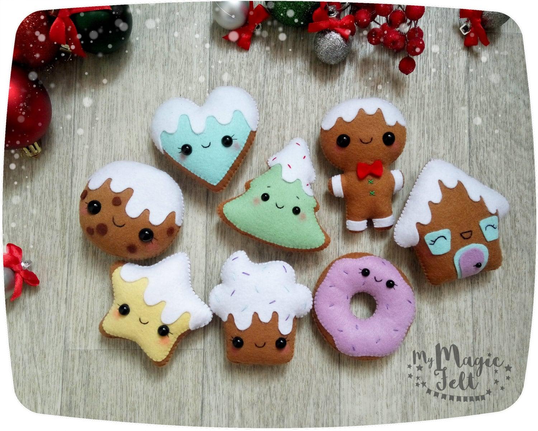 Design Felt Christmas Ornaments christmas ornaments felt gingerbread man ornament tree decorations cookie party favors new year