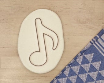 Music Note Cookie Cutter - Musical Cookie Cutter Eighth Note Orchesta Band Clef Cookie Cutter - 3D Printed