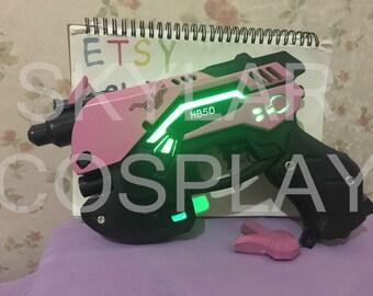 OVERWATCH OW D.va cosplay  prop weapon&headpiece gun