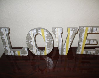 wooden letters - wall letters – wall hanging - letters – wood letters –  wall decor- nursery letters – home decor - decoupage letters - love