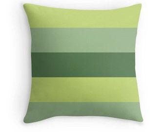 Green Toss Pillow, Green Pillow, Green Pillow Case, Green Throw Pillow, Green Stripe Pillow, Green Striped Pillow, Green Bedroom