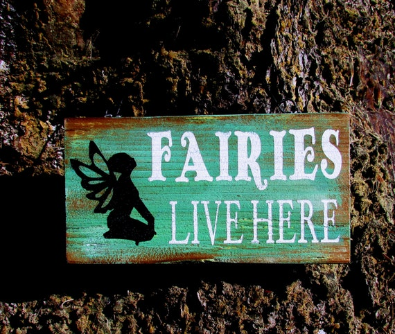 Rustic Fairy Sign