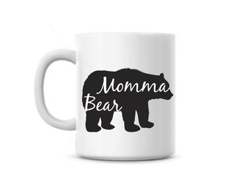 Coffee Mug cup Momma Bear Custom Name Mother's Day mom