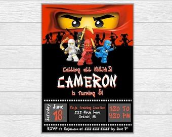 Ninjago invitation, ninjago birthday, ninjago invite, birthday invitation, birthday invite, printable invitation, digital download