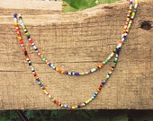 Seed Bead Necklace // Multi-Colored // Boho // Festival Wear // Single Strand // Several Lengths // Unisex // Barrel Clasp Closure