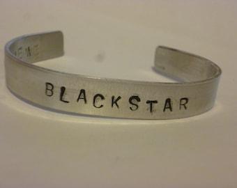 blackstar hand stamped cuff bracelet